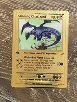 Shining Charizard Pokemon Card Gold-Metal 1st Edition Neo Destiny 107/105