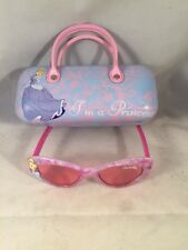 Disney Princess Cinderella Rose Tinted Sunglasses & Hand Bag Style Glasses Case