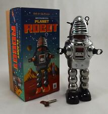 Schylling Tin Plate Collectors Toy - Forbidden Planets Robby the Robot in Chrome