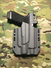 Battleship Gray Kydex Holster for Glock 17/22 Thread Barrel Surefire X400 Ultra