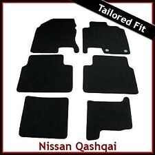NISSAN QASHQAI +2 Mk1 2008-2013 Tailored Carpet Car Floor Mats BLACK