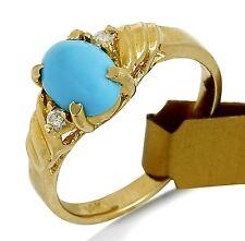 VTG Women's Blue Powder Natural Turquoise 14k SOLID Gold