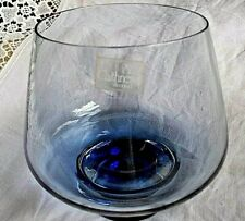 CAITHNESS Blue/Petrol Tinted  Large Brandy Glass Shaped Bowl Label VGC