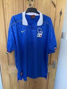 vintage nike Italy national football shirt 1995 italia euros Maldini XXL