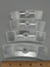 Bicycle Wheel Reflectors Clear S-L 710 / BS6102-2 / AB418  Lot of 4