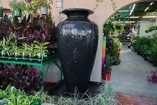 Concrete Outdoor Garden Patio Water Feature Large Carolina Fountain Urn Black