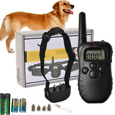 Waterproof Pets Dog Training Collar Rechargeable Safe Electric Shock LCD 2018