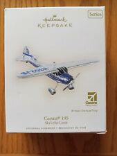 Cessna 195 Sky's the Limit Hallmark Keepsake Series Ornament 11the in the series