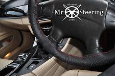 Para Subaru Forester 2 Cubierta del Volante Cuero Perforado Rojo Oscuro Doble St