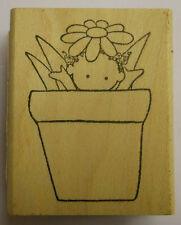 Baby in vaso di fiori Rubber Stamp