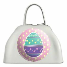 Cute Easter Egg Turquoise Purple Polka Dots White Cowbell Cow Bell Instrument