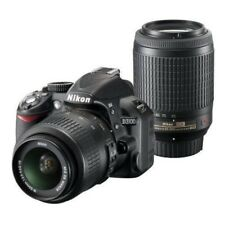 USED Nikon D3100 with 18-55mm VR 55-200mm Black Excellent FREESHIPPING