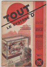 """Revue """"Tout le Système D"""" N°19 juin 1947 Aquarium Canoe canadien"""
