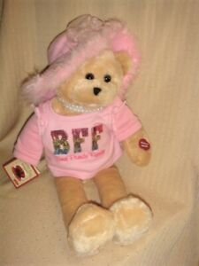 """19"""" Animated CHANTILLY LANE Tan BFF Bear Sings """"That's What Friends Are For"""""""