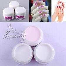3 Pcs Nail Art Primer Base UV Gel Top Coat Builder Tips Set Clear/White /Pink