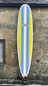 SHIPPING, NSP Longboard Surfboard 8'6, SET, Epoxy thruster, bag, leash, fins kit