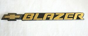 "1998 - 2004 CHEVROLET ""BLAZER"" 24K GOLD PLATED SIDE DOOR EMBLEM - 15733584  B 9"""