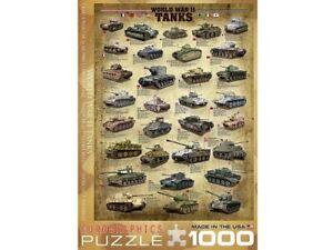 Eurographics 1000 Piece Jigsaw Puzzle - World War II Tanks