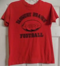 Women's Red  Short Sleeve Flowery Branch High School Football Shirt Size S