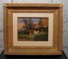 Antique Oil  Painting on Wood Panel by By J.L. Vanleemputten  Belgium