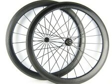 Light weight 700c 58mm depth dimple surface carbon wheels with Bitex 6 pawls hub