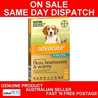 Advocate for Medium Dogs Aqua Blue 4-10kg 6 Pack