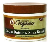 Ultimate Organics Cocoa Butter and Shea Butter Moisturising Body Cream 227g