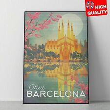 Vintage Arte Impresiones De Viaje Retro carteles de Barcelona Turismo Vacaciones Decoración del hogar