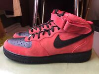 Nike Air Force 1 Mid 07 University Red Black Strap Suede Men Size 11 315123-606