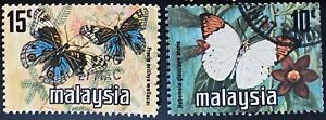 Malaysia 1976 Butterfly Coil Stamps 10 sets of 2v used