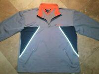 VTG Tommy Hilfiger Athletics Pullover Jacket Polyester Cotton Blend Gray 2XL