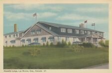 Alouette Lodge LAC BROME Quebec Canada 1940s PECO Postcard 5