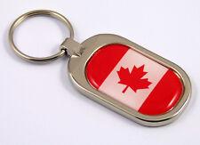 Canada Flag Key Chain metal chrome plated keychain key fob keyfob Canadian