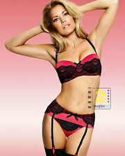 "Sylvie van der Vaart Dutch glamour model 8x10"" HOT Lingerie Color PHOTO REPRINT"