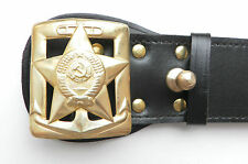 USSR Soviet Russia Army Military Navy Admiral Genuine leather Belt Buckles NEW
