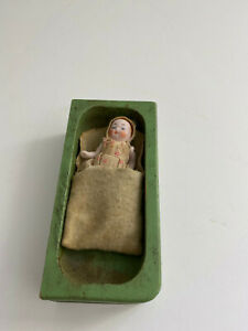 Antique Small 2.5 Inch Jointed Baby Doll