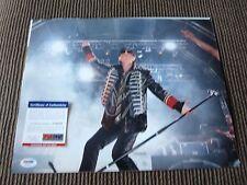 Klaus Meine Scorpions Live Concert Signed Color 11x14 Photo PSA Certified #1