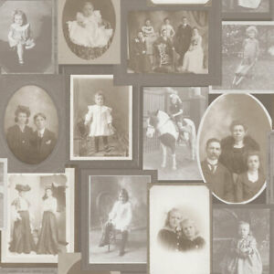 Old Fashioned Style,  Sepia Coloured, Family Photos Wallpaper by Galerie