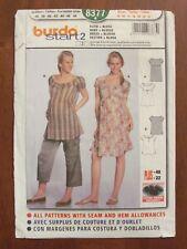 BURDA PATTERN - 8377 LADIES DRESS TUNIC TOP MATERNITY 10-22 PLUS SIZE UNCUT
