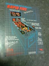 Bally RAPID FIRE flyer- good original