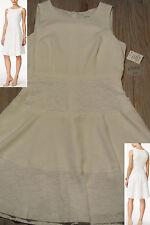 KASPER Vanilla Ice Ivory Lace Detail Fit & Flare Dress Size 8P ***NWT***   $89