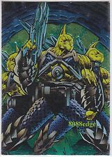 """1995 INTREPID """"PITT"""" ASHCAN CHARACTER CARD: ECTO WARRIORS #C7 EMBOSSED FOIL"""