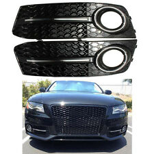 Glossy Fog Light Cover Standard Style Grille Grill For Audi A4 B8 2009 2010 2011