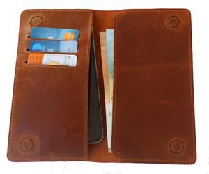 Universal Handy Hülle Schutzhülle Cover Handy Leder Tasche Case Etui Echtleder