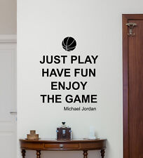 Michael Jordan Quote Wall Decal Basketball Vinyl Sticker Sport Gym Poster 207crt