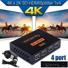 UHD 1*4 SPLITTER HDMI 1 in 4 Out 4K 3D 4 vie Splitter Distributore di segnale HDMI
