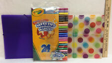 Crayola Markers 24 Ct Washable Nontoxic Super Tips 6 Scented 2 Folders Lot of 3