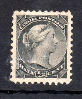 Canada QV 1868 1/2c black SG53 mint MH WS14121