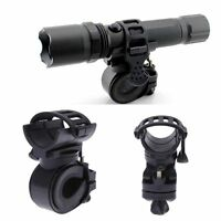 Bicycle Light Clip Flashlight Holder 360 Degree Rotation Bicycle Torch Clamp