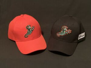 Norfolk Tides Trident Hats-Lot of  2-Orange and Black —-Smithfield